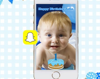 Snapchat GeoFilters, Birthday Cake Snapchat Filters, Party Snapchat Filter, Custom Snapchat GeoFilter, 1st Birthday Birthday Party