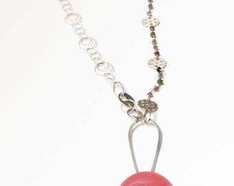 Large Pink Bloom Necklace