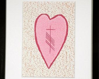 Love (Grá) Ogham 8x10 Print