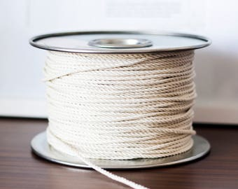 Macrame Cotton Rope, Macrame Cord, Macrame Plant Hanger, Natural Cotton Cord, Natural Cotton, DIY plant hanger, 100 Feet Rope, 30meters, 3mm