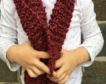 READY TO SHIP Toddler hand knit scarf