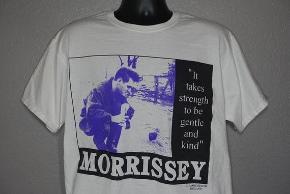 90's RARE Morrissey - 'It Takes Strength to be Gentle and Kind' Vintage T-Shirt