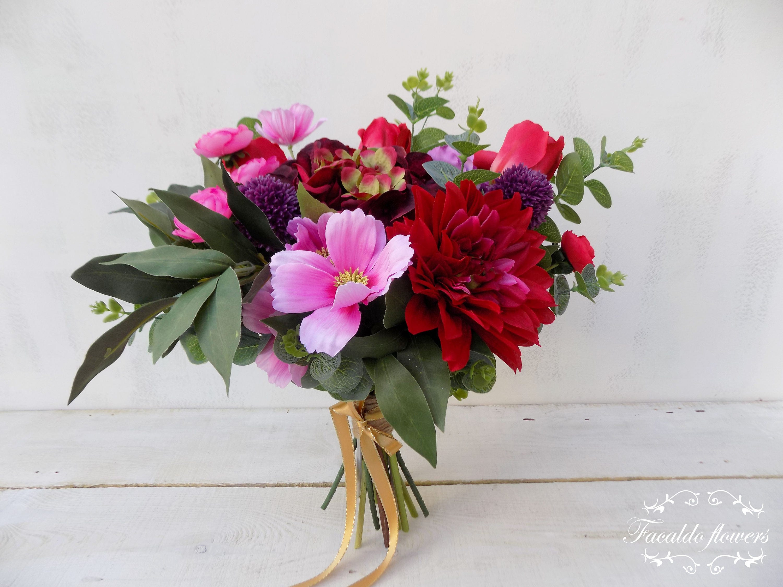 Woodland Boho Bridal Bouquet Bridesmaid Package Artificial