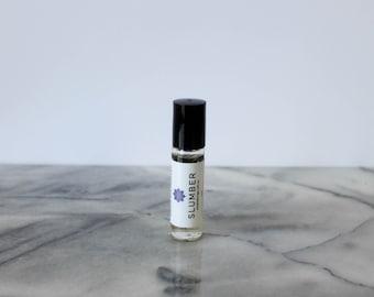 Slumber Essential Oil Blend: sleep essential oil, sleep aromatherapy, calming essential oil, calm aromatherapy