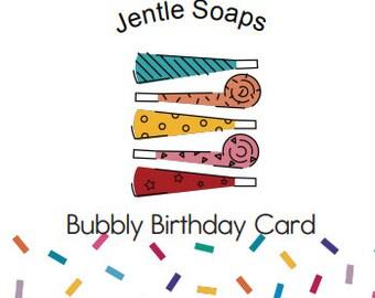 Artisan Soap Cake Handmade Birthday Card