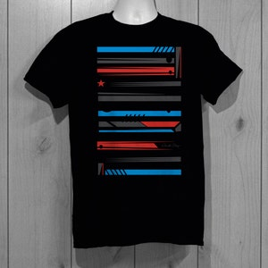 Abstract shapes t-shirt, abstract lines t-shirt, modern stars, abstract lines t-shirt, bright unique design by WearableDesignTShirt on Etsy