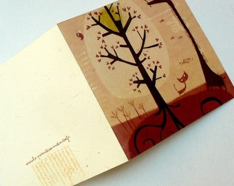 Card, red giraffe C055