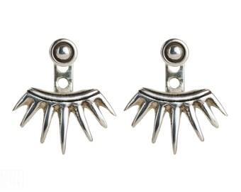 Sterling Silver Ear Jacket Earrings Sunshine Ear Cuff Earrings Boho Jewelry - JKT001