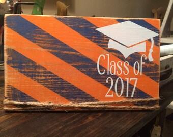Distressed graduation frame