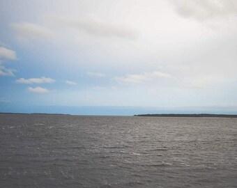 Seascape -Blue Gray Wall Art - Ocean Photography - Minimalist - Sea - Coastal Art - Abstract - Nova Scotia Canada - Nautical Decor