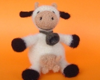 PATTERN PDF Crocheted and Felted Cow Amigurumi Pattern