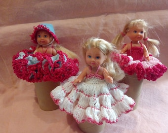 Doll with Crochet dress
