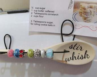 Recipe Card Holder with Flour Counting Beads