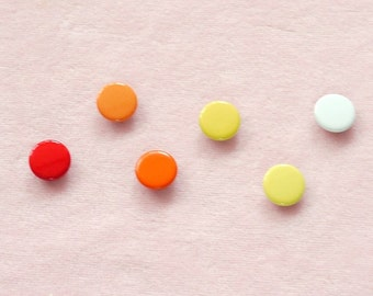 100 sets, Autumn Shade (6 colors) Capped Prong Snap Button, Size 14L ( 8.5 mm)