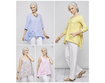 Simplicity Pattern 8603 Misses' Pullover Tops by Elaine Heigl