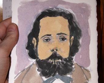 Mussorgsky portrait for Classical Pulse Magazine