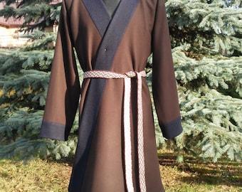 Early Medieval Scandinavian coat, Klappenrock, Viking coat, Historical Pattern , for Viking Reenactors, Viking Costume