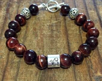Red Tigers Eye Capricorn bracelet