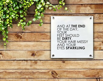 Garden Wall hanging - Outdoor print - balcony wall hanging - outdoor decor - garden decor - outdoor wall art - summer quote - positive quote