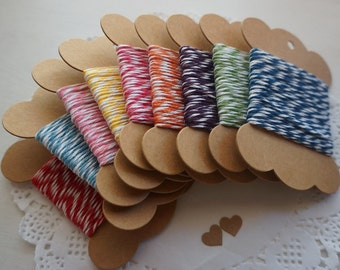 10M Baker's Twine 100% Cotton 8 Ply - 9 Colours ~ *Gifts*Tags*Cards*