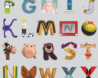 Disney Toy Story Alphabet Chart Wall Mural