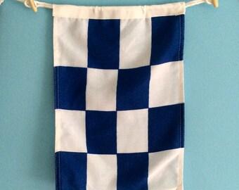 """Nautical Signal Flag - """"N"""""""