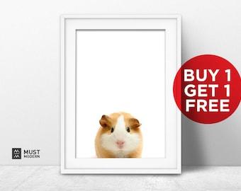 BUY 1 GET 1, Nursery hamster print PRINTABLE art,baby animal print,nursery decor,animal art,baby nursery animal print, baby animal print