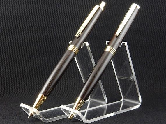 Trimline Pen and Pencil Set in African Blackwood, 24k Gold Trime