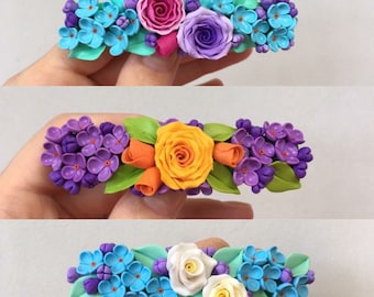 Handmade flower hairpin