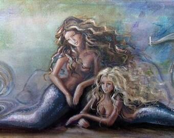 Mermaids (5x7 print)