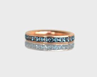 aquamarine eternity ring, aquamarine engagement ring, aquamarine ring rose gold, aquamarine ring gold, aquamarine ring white gold