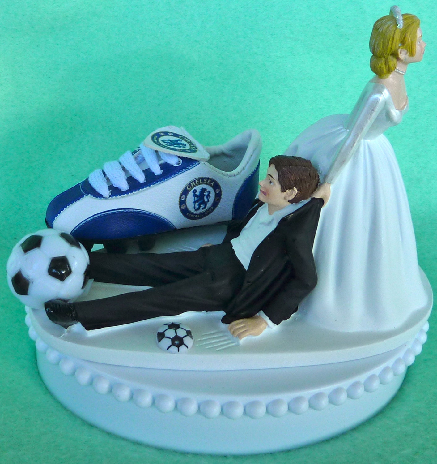 Wedding cake topper chelsea football club fc soccer themed zoom junglespirit Images
