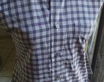 Shirt apron/ grey checkered