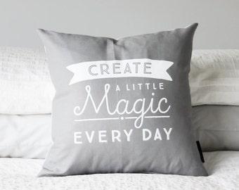 Create a Little Magic   Cushion Cover   Various Colours   Screen Printed Linen/Cotton Blend   Toodles Noodles