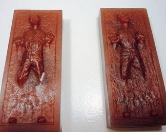 2 Han Solo in Carbonite Vegan Soaps - YOU PICK SCENT- Vegan Star Wars Birthday