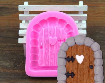 3D Fairy House Door DIY Silicone Fondant Mould Cake Decor Chocolate Cutter Mold