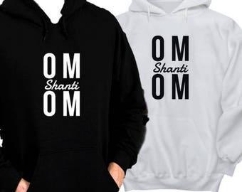 Om - Shanti - Yogi - Yogi Sweatshirt - Yoga Hoodie - Yoga Teacher Gift - Yoga Sweatshirt - Yoga Gifts - Workout Hoodie - Fitness Hoodie