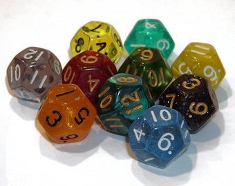 12 Sided Dice - Assorted