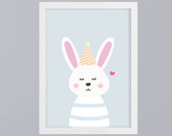 Rabbit hop - unframed art print