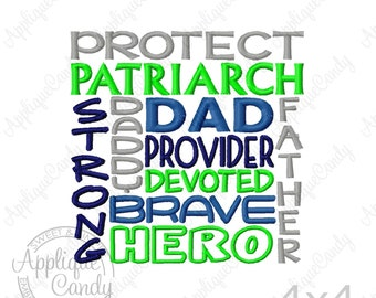 Dad Subway Art Machine Embroidery Design 4x4 5x7 6x10 Father Daddy INSTANT DOWNLOAD