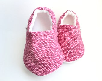 Pink Stripes Baby Booties, Baby Shoes, Baby Slippers, Baby Booties, Baby Moccs, Soft Sole, Baby Gift, Baby Booty