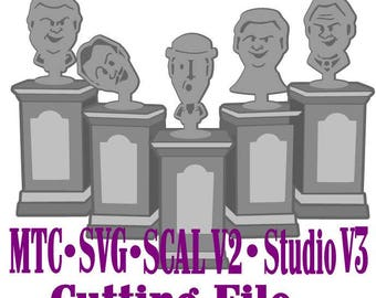 SVG Cut File Haunted Mansion Statues #01 Cricut Silhouette MTC SCAL Instant Download Cutting File