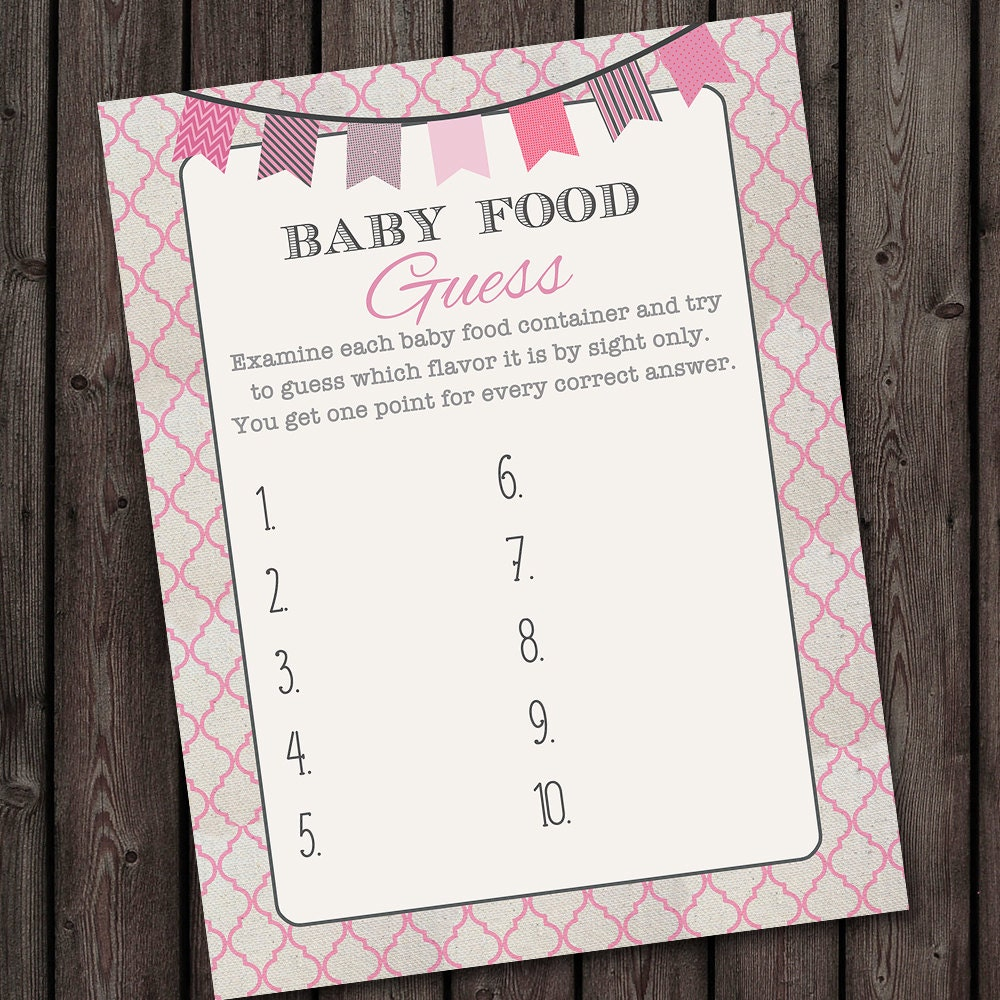 Nice Baby Food Guessing Game Template Images Gallery >> Unique ...