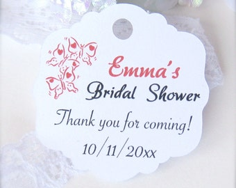 Bridal shower favors, bridal shower decor, thank you favor tags, party favor tags, personalized shower tags, favor labels - 30 count(tg12)
