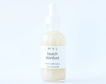 BEACH STARDUST Body Oil, coconut body oil with shimmer sparkle, 100% natural & vegan