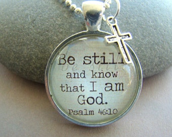 Christian Pendant Necklace with chain included, Christian jewelry, Bible Verse pendant, Necklace Charm, Quotation pendant