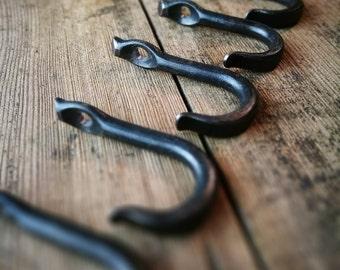 Hand Forged Hook, Wall Mounted Hook, Single Hook, Wall Hook