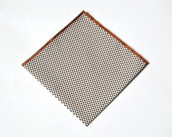Light brown Handmade pocket square, Silk pocket square for men, Wedding pocket square, Men's Handkerchief
