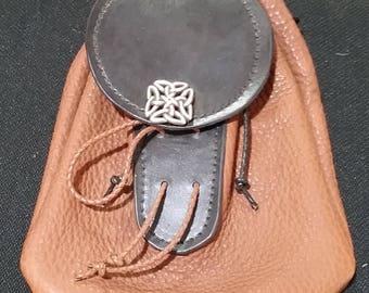Sporran belt bag made of bison leather