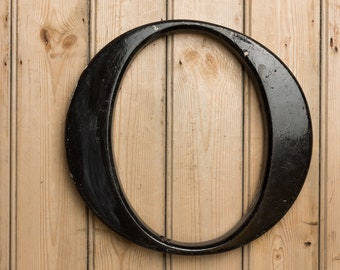 Vintage Letter O, Capital letter O, Wall art, home decor, letter 0, Olivia, Oliver, Shop sign, pub sign, black letters, Initial O, word art